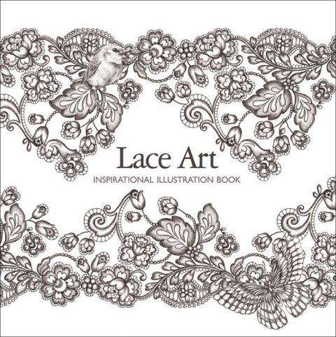 Lace art - Inspirational Illustration Book